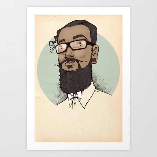 Portrait of Abraham Art Print