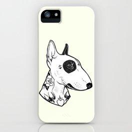 Bull Terrier dog Tattooed iPhone Case