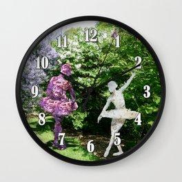 Lilac Dancers Wall Clock