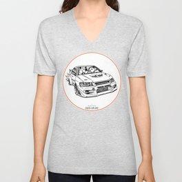 Crazy Car Art 0196 Unisex V-Neck