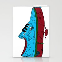 vans Stationery Cards featuring Zombie Vans by Digital Death