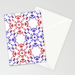 Red&blue ornaments Stationery Cards