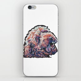 Labradoodle Doodle Dog Portrait bright colorful Pop Art Paintin by LEA iPhone Skin