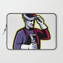 Welder Welding Torch Mascot Laptop Sleeve