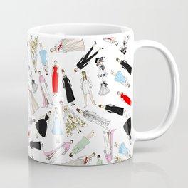 Audrey Hepburn Fashion (Scattered) Coffee Mug