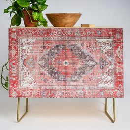 N62 - Vintage Farmhouse Rustic Traditional Moroccan Style Artwork Credenza