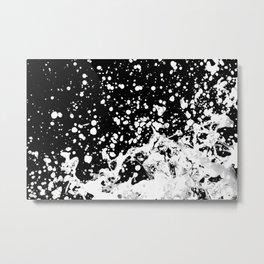 Black and White Grunge Design Metal Print