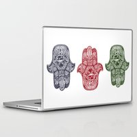 hamsa Laptop & iPad Skins featuring Hamsa by creative.court