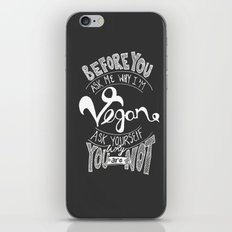 Why Vegan? iPhone & iPod Skin