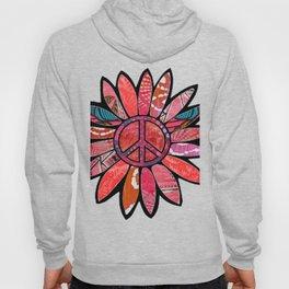 Pink Bliss Peace Flower Hoody