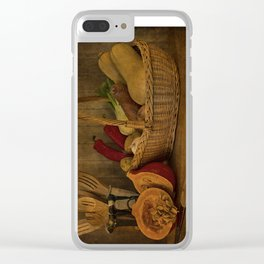 Autumn Harvest Clear iPhone Case