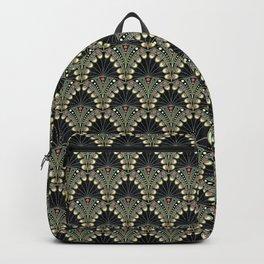 Art Deco Peacock Feathers Custom Backpack