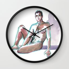MARK, Nude Male by Frank-Joseph Wall Clock