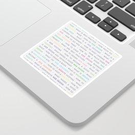 Colored Web Design Keywords Poster Concept Sticker