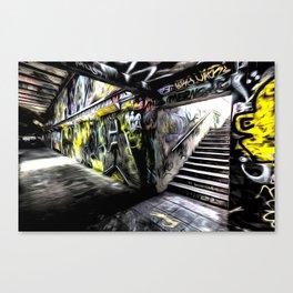 London Graffiti Art Canvas Print