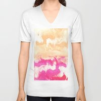 gradient V-neck T-shirts featuring Pastel Gradient by Jenna Davis Designs