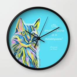 Cat of Many Colors Wall Clock