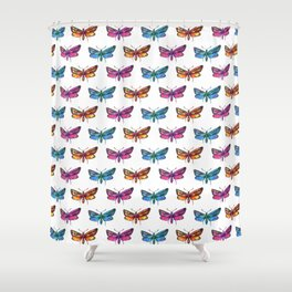 colorful butterflies pattern 2 Shower Curtain