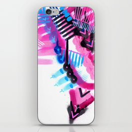 Blue, Pink and Black iPhone Skin