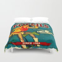 dino Duvet Covers featuring DINO by Don Kuing