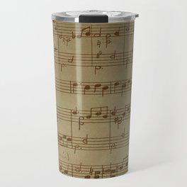 Vintage Music Sheet (Monochrome) Travel Mug