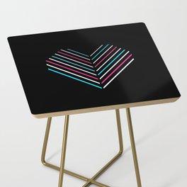 Transcend Neon Heart Side Table