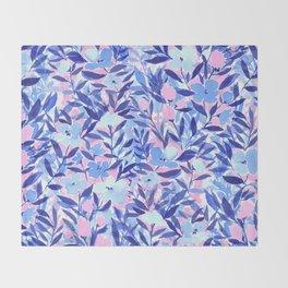 Nonchalant Blue Throw Blanket