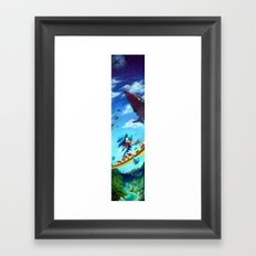 Sonic The Hedgehog Framed Art Print