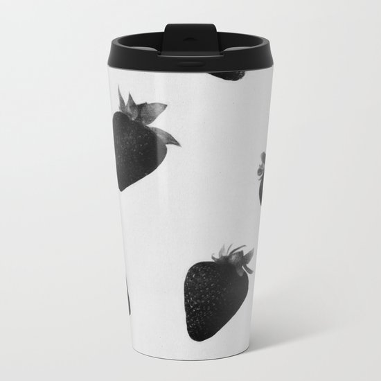 black strawberries Metal Travel Mug