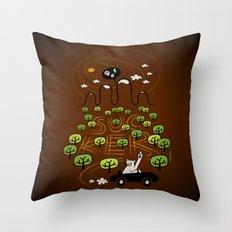 Never Trust a Bear Throw Pillow