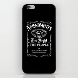 2nd Amendment Whiskey Bottle iPhone Skin