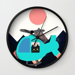 cat 596 Wall Clock