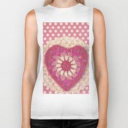 Crochet Valentine Biker Tank
