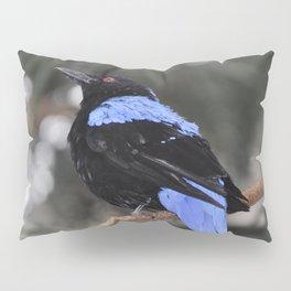 Blue and Black Bird Pillow Sham