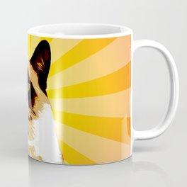 Cat Grumpy - Pop Art Coffee Mug