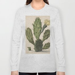 Herman Saftleven - Blooming prickly pear cactus (1683) Long Sleeve T-shirt