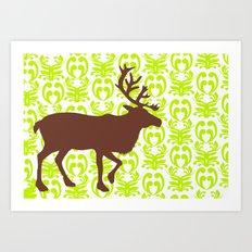 Reindeer art Art Print