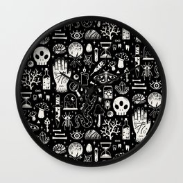 Curiosities: Bone Black Wall Clock