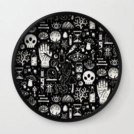 Curiosities: Bone Black Wall Clock