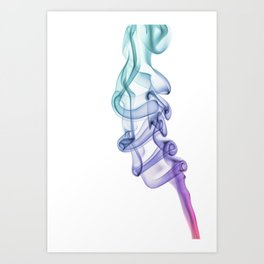 Dancing smoke Art Print