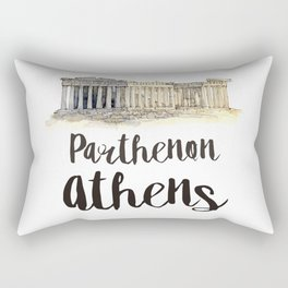 Parthenon watercolor Rectangular Pillow
