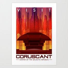 Visit Coruscant Art Print