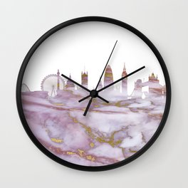 London Skyline United Kingdom Wall Clock