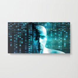 Medical Research in Genetics and DNA Science as Concept Metal Print