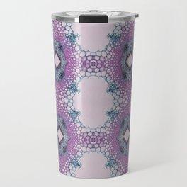 Arabidopsis flower stem microscopy pattern pink Travel Mug
