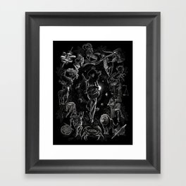 XXI. The World Tarot Card Illustration Framed Art Print