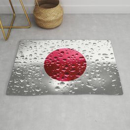 Flag of Japan - Raindrops Rug