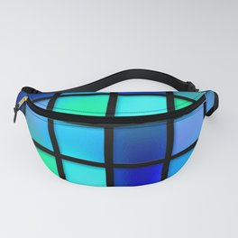 Blue and Green Tiles Fanny Pack
