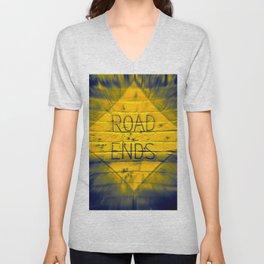 The Road Ends Unisex V-Neck