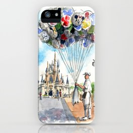 Belle and the Balloon Man iPhone Case